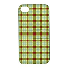 Geometric Tartan Pattern Square Apple iPhone 4/4S Hardshell Case with Stand