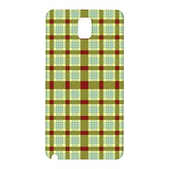 Geometric Tartan Pattern Square Samsung Galaxy Note 3 N9005 Hardshell Back Case