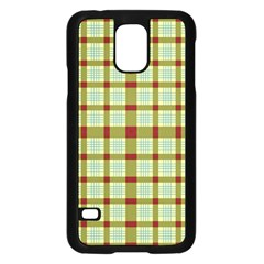 Geometric Tartan Pattern Square Samsung Galaxy S5 Case (Black)
