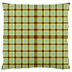 Geometric Tartan Pattern Square Large Flano Cushion Case (One Side)