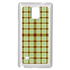 Geometric Tartan Pattern Square Samsung Galaxy Note 4 Case (White)