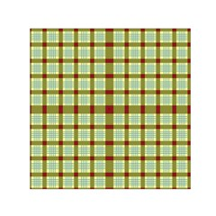 Geometric Tartan Pattern Square Small Satin Scarf (Square)