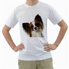 Papillon Men s T-Shirt (White) (Two Sided)