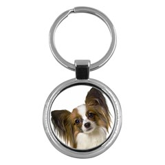 Papillon Key Chains (Round)