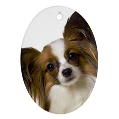 Papillon Oval Ornament (Two Sides)
