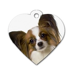 Papillon Dog Tag Heart (One Side)