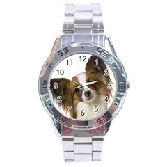 Papillon Stainless Steel Analogue Watch