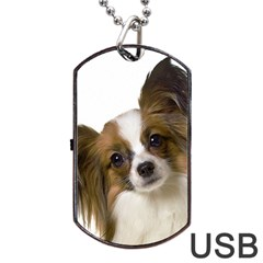 Papillon Dog Tag USB Flash (Two Sides)