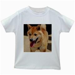 4 Shiba Inu Kids White T-Shirts