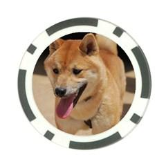 4 Shiba Inu Poker Chip Card Guards (10 pack)