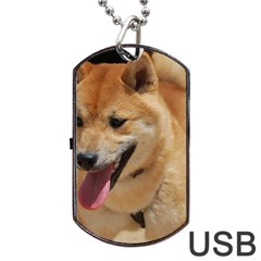 4 Shiba Inu Dog Tag USB Flash (One Side)
