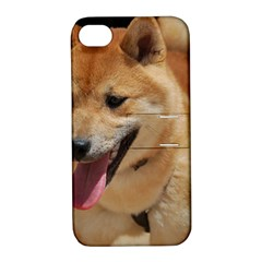 4 Shiba Inu Apple iPhone 4/4S Hardshell Case with Stand