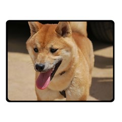 4 Shiba Inu Double Sided Fleece Blanket (Small)