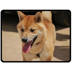 4 Shiba Inu Double Sided Fleece Blanket (Large)