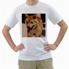 4 Shiba Inu Men s T-Shirt (White)