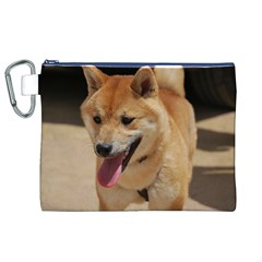 4 Shiba Inu Canvas Cosmetic Bag (XL)
