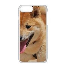 4 Shiba Inu Apple iPhone 7 Plus White Seamless Case