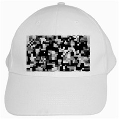 Noise Texture Graphics Generated White Cap