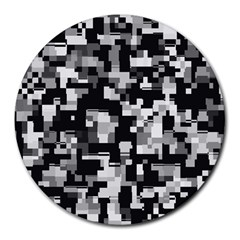 Noise Texture Graphics Generated Round Mousepads