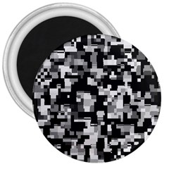 Noise Texture Graphics Generated 3  Magnets