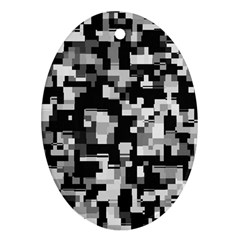 Noise Texture Graphics Generated Ornament (Oval)