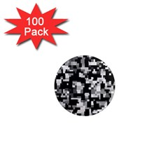 Noise Texture Graphics Generated 1  Mini Magnets (100 pack)