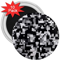 Noise Texture Graphics Generated 3  Magnets (10 pack)