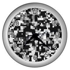 Noise Texture Graphics Generated Wall Clocks (Silver)