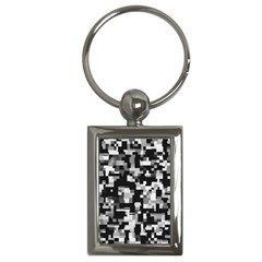 Noise Texture Graphics Generated Key Chains (Rectangle)