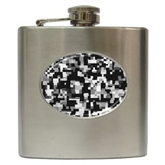 Noise Texture Graphics Generated Hip Flask (6 oz)