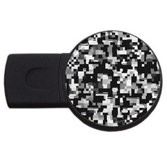Noise Texture Graphics Generated USB Flash Drive Round (1 GB)