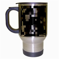 Noise Texture Graphics Generated Travel Mug (Silver Gray)