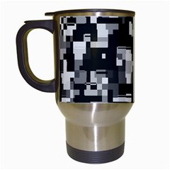 Noise Texture Graphics Generated Travel Mugs (White)