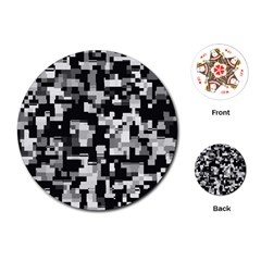 Noise Texture Graphics Generated Playing Cards (Round)