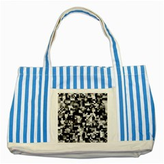 Noise Texture Graphics Generated Striped Blue Tote Bag