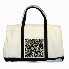 Noise Texture Graphics Generated Two Tone Tote Bag