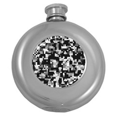 Noise Texture Graphics Generated Round Hip Flask (5 oz)