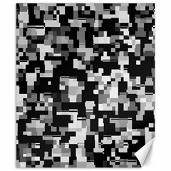 Noise Texture Graphics Generated Canvas 8  x 10