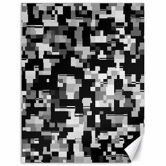 Noise Texture Graphics Generated Canvas 18  x 24