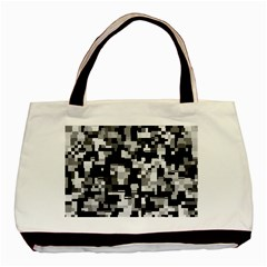 Noise Texture Graphics Generated Basic Tote Bag (Two Sides)