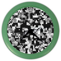 Noise Texture Graphics Generated Color Wall Clocks