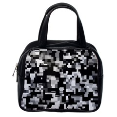 Noise Texture Graphics Generated Classic Handbags (One Side)