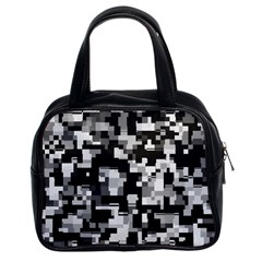 Noise Texture Graphics Generated Classic Handbags (2 Sides)