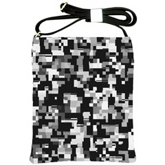 Noise Texture Graphics Generated Shoulder Sling Bags