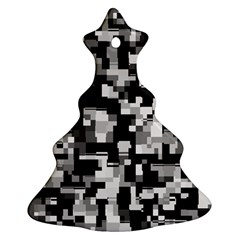Noise Texture Graphics Generated Christmas Tree Ornament (2 Sides)
