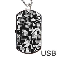 Noise Texture Graphics Generated Dog Tag USB Flash (Two Sides)