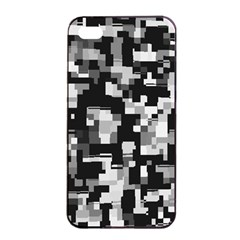 Noise Texture Graphics Generated Apple iPhone 4/4s Seamless Case (Black)