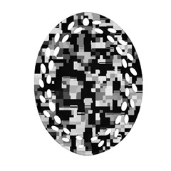 Noise Texture Graphics Generated Ornament (Oval Filigree)