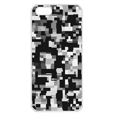 Noise Texture Graphics Generated Apple iPhone 5 Seamless Case (White)