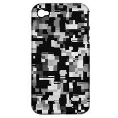 Noise Texture Graphics Generated Apple iPhone 4/4S Hardshell Case (PC+Silicone)
